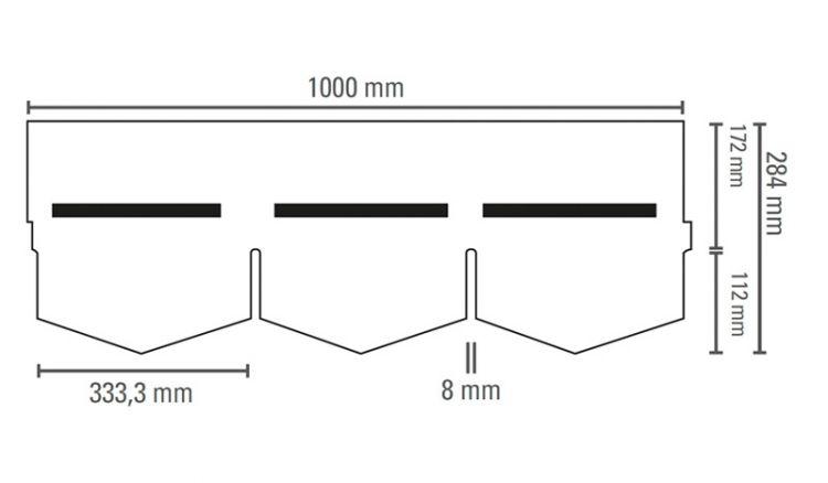 Unsere witterungsbeständigen Bitumenschindeln in Dreieck-Form haben das Maß 384 x 1000 mm. Erhältlich in den Farben: Grün, Ziegelrot und Schwarz. Passendes Zubehör finden Sie in unserem Shop