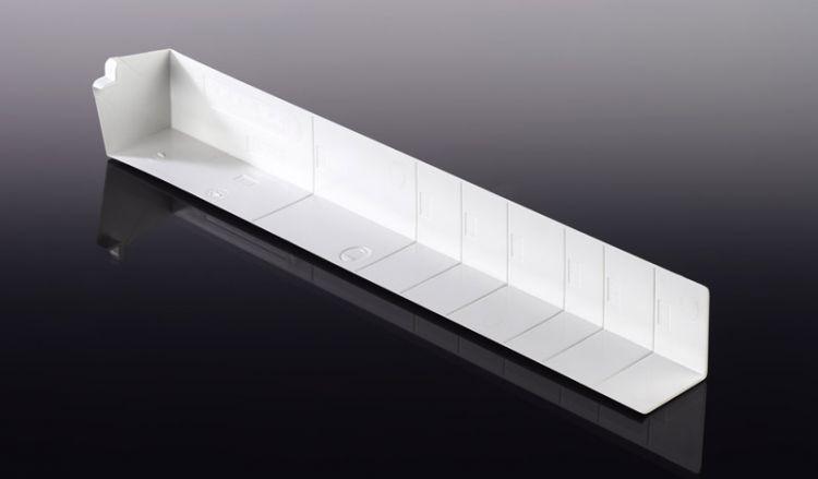 Unsere Außeneckstücke für Heering Winkelprofile haben eine Länge von 300 mm und sind in den Farbe Weiß erhältlich.