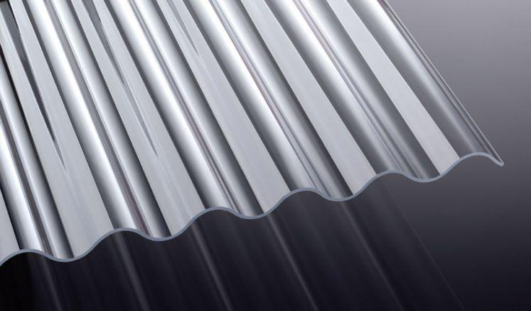 Unsere glasklaren, 3 mm starken Acryl Wellplatten sind vergilbungsfrei und in den Längen 2000 - 5000 mm erhältlich. Optional können Sie sich die Platten auch in der Länge zuschneiden lassen.