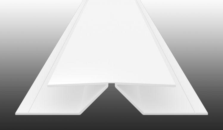 Flexibles Eckprofil zur leichten Montage von PVC-Paneelen über Eck - UV-beständiger PVC-Kunststoff in 5 Dekoren