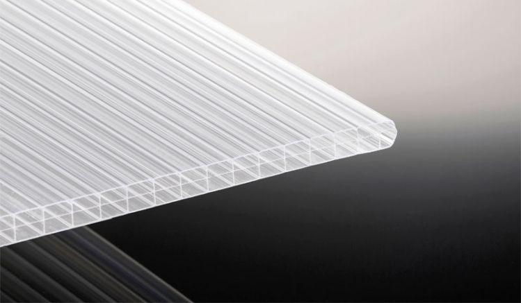 16 mm starke Stegdoppelplatte aus bruchfestem Polycarbonat in Weiß-Opal - in 9 verschiedenen Längen erhältlich