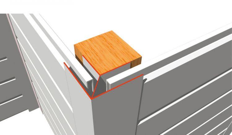 Das 17 mm Eckprofil für die Montage von PVC-Paneelen ist in den Farben Weiß und Grau à 6 m lieferbar. Individuelle Zuschnitte sind unkompliziert möglich