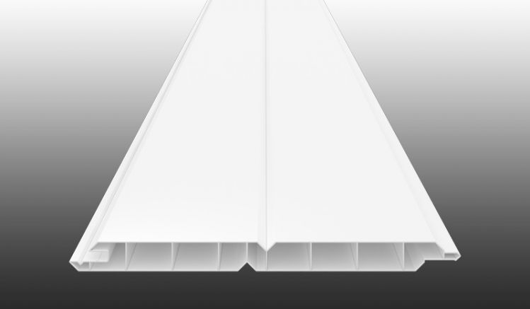 Witterungsbeständiges Verkleidungspaneel aus UV-beständigem PVC-Kunststoff in Weiß