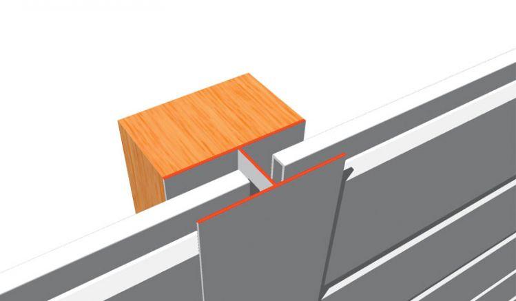 Das 17 mm H-Profil verbindet und stabilisiert PVC-Paneele in den Stoßfugen. Das Produkt ist witterungs- und UV-beständig