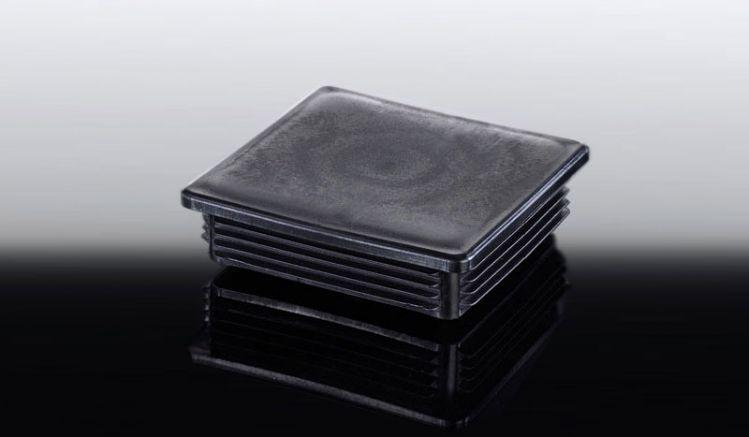 Schwarze 11 x 11 cm Abdeckkappe für Alu-Stützpfosten. Verhindert das Verrutschen des Pfostens