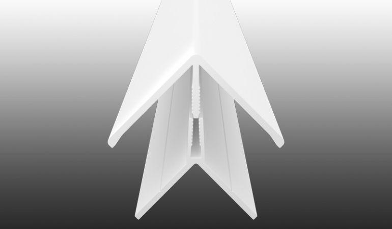 Unverrottbares Eckprofil aus pflegeleichtem PVC-Kunststoff - 2-teiliges Klicksystem zur einfachen Montage