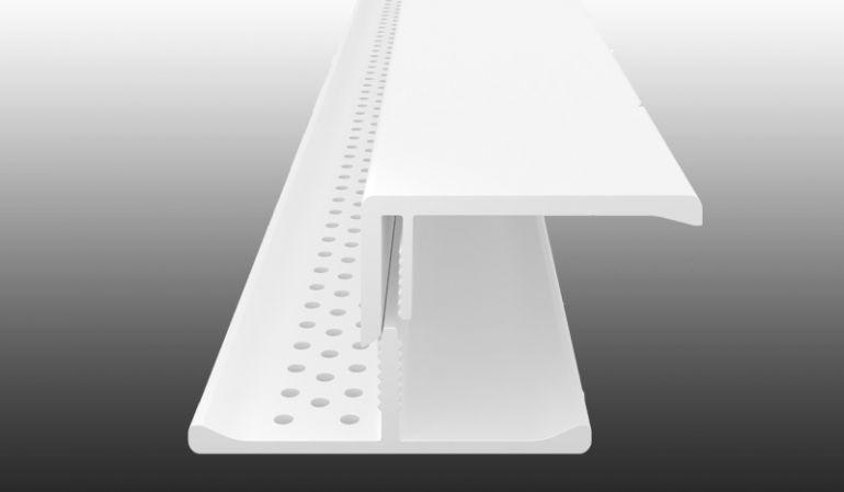 2-teiliges, witterungsbeständiges Lüftungsprofil aus pflegeleichtem PVC-Kunststoff - in 5 verschiedenen Dekoren