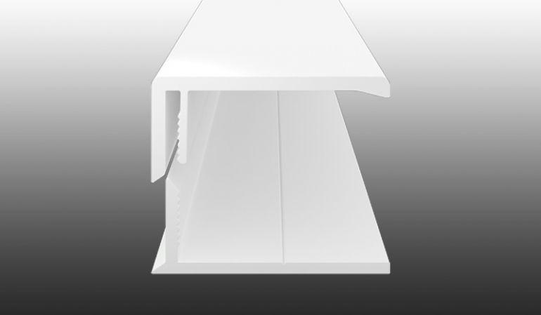 UV-beständiges U-Abschlussprofil aus 2-teiligem PVC-Klicksystem in 5 verschiedenen Dekoren