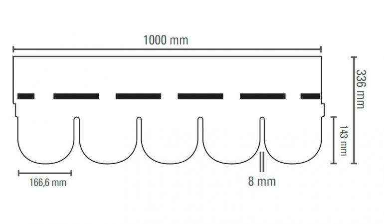 Unsere witterungsbeständigen Bardoline Bitumenschindeln haben ein geringes Gewicht und sind sehr leicht zu verarbeiten. Die Verpackungseinheit von 21 Stk. reicht für 3 m² Dachfläche